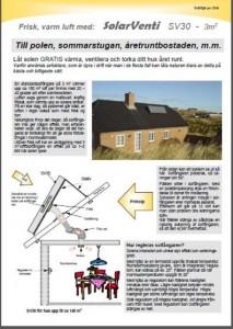 Broschyr - Frisk varm luft med SolarVenti