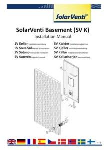SolarVenti - Installations mannual för källare