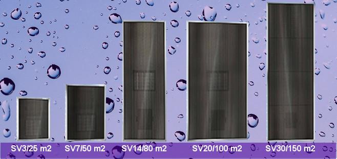 SolarVenti - 5 olika storlekar