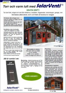 Broschyr - Torr varm luft med SolarVenti